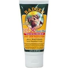 Badger SPF30/ Anti-Bug Combo by Badger. $10.88. Bad for the Bug. Based on our effective and popular Anti-Bug Balm formula, this organic Shake & Spray bug repellent naturally repels insects with the pleasant aroma of Citronella, Rosemary, and Wintergreen essential oils. USDA Certified Organic Good For the Skin. Block sun and bugs the natural way with Badger SPF30/ Anti-Bug Combo. If youre tired of applying chemicals to your body to protect you from the elements, ...