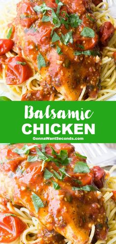 *NEW* You can't beat the one-pan wonder of Balsamic Chicken with tender chicken in a tangy sauce. Easy to make but tastes like it's straight from a restaurant! #BalsamicChicken #ChickenRecipe Dinner Dishes, Food Dishes, Dinner Recipes, Main Dishes, Turkey Recipes, Chicken Recipes, Cooking Recipes, Healthy Recipes, Savoury Recipes