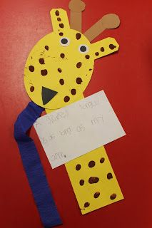 Integrating Math :  giraffe (Mrs. Lee's zoo unit)