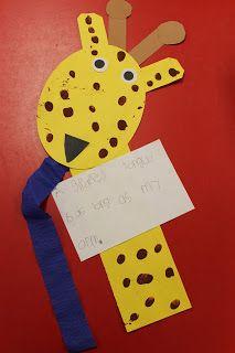Integrating Math :  giraffe (Mrs. Lee's zoo unit)
