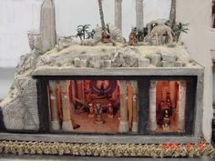 "SETI. tomb Box. 1/2"" scale, by Bill Lankford. Be sure to click and visit the website for additional photos"