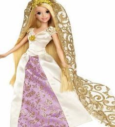 Disney Princess Disney Rapunzel Bridal Doll As seen in the animated short Tangled Ever After Rapunzel is getting married to her beloved Eugene Girls will love recreating the wedding fun with this beautiful bridal R (Barcode EAN = 0746775129521) http://www.comparestoreprices.co.uk/december-2016-week-1-b/disney-princess-disney-rapunzel-bridal-doll.asp