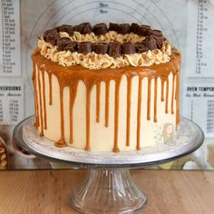 A Delicious, Dreamy, Sweet & Salty Cake that everyone will enjoy. A Salted Caramel Drip Cake to beat all others, the true showstopper! Recently I was asked to make my friends Birthday Cake, so I had to oblige.. I mean, it was just so difficult to bake a cake that was damn delicious and then eat a majority of it. But anyway, she let me make a recipe out of it, so we had a great deal going on! I didn't know what flavour to use, but then I remembered she has an obsession with all things Salt...