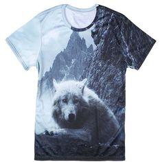 98ae7e70d 3D Printed T Shirt Fashion Animal Creative T-Shirt Novelty Design Wolf/Bear/