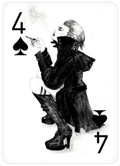 Four Of Spades, Fashion Playing Cards by Connie Lim