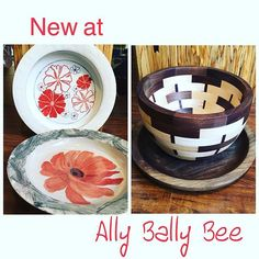 New local artists join Ally Bally Bee. #artistcoop #handcrafted #localwood…