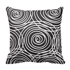 abstract throw pillows