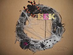Spider wreath, Eek! ||  Halloween Wreath | Halloween Decorations