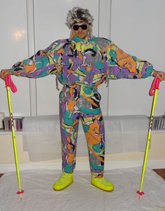 Retro Ski Man