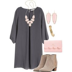 A fashion look from January 2016 featuring H&M dresses, Golden Goose ankle booties and Kate Spade wallets. Browse and shop related looks. Fall Winter Outfits, Autumn Winter Fashion, Spring Outfits, Spring Fashion, Paris Fashion, Casual Outfits, Cute Outfits, Fashion Outfits, Womens Fashion