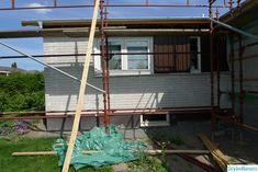"""Huset utvändigt efter utbyggnad av kök och hall/sovrum. """"Från 70-tal till 201x"""" - Hemma hos hybris Ladder, Stairway, Ladders"""