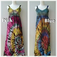 Tie‐dye Special Maxi Dress Colors pink n Blue