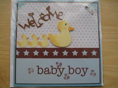 Inky Fingers: Cricut wildcard/zooballo baby card