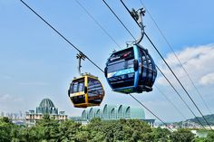 At the Imbiah Lookout Station, Sentosa. Sky Ride, Ski Lift, Graphic Design Posters, Park, Singapore, Skiing, Cable, Ski, Cabo