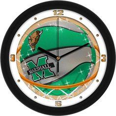 Marshall University Basketball Wall Clock