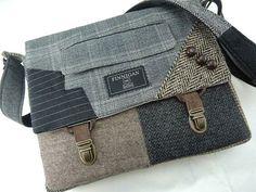 Crossbody Messenger Bag, Tote Purse, Homemade Bags, Ipad Bag, How To Make Purses, Recycled Leather, Fabric Bags, Custom Bags, Bag Making