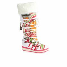 OMG, I probably shouldn't but I LOVE these! Snoboot Mutant High Tattoo Boots - Color White
