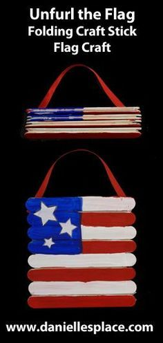 Unfurl the Flag Patriotic Craft Stick Craft for the Forth of July From www.daniellesplace.com Frugal Summer Activities, Summer Kids Activities #summer