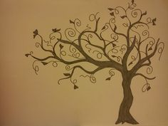 The Creative Artista: Project: Painting a swirly tree on the wall (part 1)