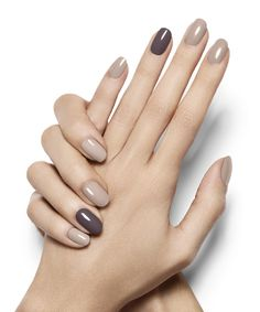 Smokey Accent Nails in Motives Nail Lacquers(Exposed & Notorious)!   #Beige #Nail #Accent