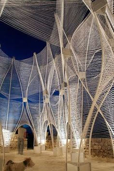 "Architectural weaving - nArchitects + SCAD - ""Windscape"" in Lacoste, France"