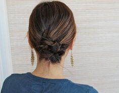 Chic Knotted Chignon: A Simple Hair How-To