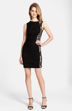 CeCe by Cynthia Steffe 'Gigi' Lace Inset Body-Con Dress available at #Nordstrom