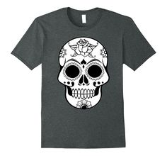 Halloween Sugar Skull Shirt Mexican Day of Dead T-Shirt