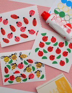 Summer Bug Cards for Kids