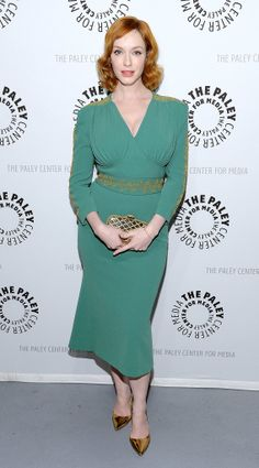 Christina Hendricks at PaleyFest's Mad Men panel.  This may be the best I have ever seen her look.