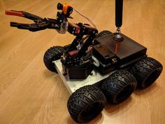 Remote Controlled All Terrain Robot : 10 Steps (with Pictures) - Instructables Robotics Projects, Arduino Projects, Diy Projects, Big Robots, Robot Arm, Miniature Plants, Robot Design, Project 4, Rc Drone