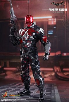 This Red Hood gear needs to be in the game. They are coming out with a new Arkham Knight figure with a changeable head for Red Hood. Batman Arkham Knight Suit, Batman Arkham Series, Batman Suit, Batman Arkham City, Batman Arkham Origins, Gotham City, Batman Comic Art, Batman Robin, Red Hood Dc