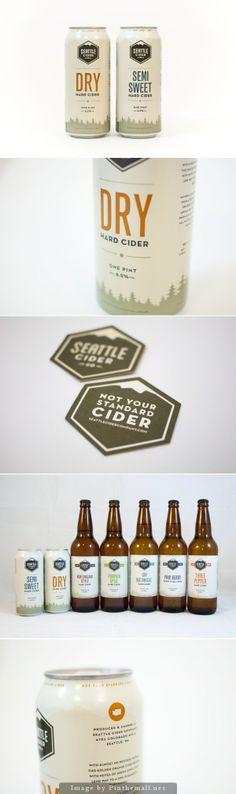 Unique Packaging Design, Seattle Cider Co. #packaging #design (http://www.pinterest.com/aldenchong/)