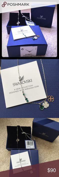 ⚡SALE⚡️ Swarovski Duo Clover Pendant Brand new beautiful Swarovski Clover Pendant. Swarovski Jewelry Necklaces