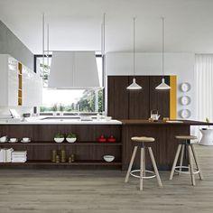 Cucina Moderna - KALI Finitura rovere termocotto e maxximatt ...
