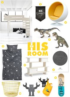 Great collage with Rafa-kids F bunk bed via : minor de:tales: INTERIOR | IN HIS ROOM