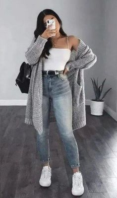 Spring Outfits For Teen Girls, Trendy Fall Outfits, Spring Fashion Casual, Cute Comfy Outfits, Casual Winter Outfits, Winter Fashion Outfits, Look Fashion, Stylish Outfits, Casual Dresses
