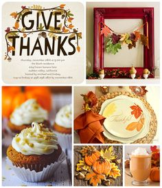 Thanksgiving Inspiration | #thanksgiving #decor #table #cards #recipes #crafts