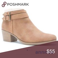 TAN cut out suede booties These  are TAN booties that will go with ANYTHING AND EVERYTHING.  These are VERY WELL MADE!  🎈THEY run 1 SIZE BIG, SO GO DOWN A SIZE..  The clasps on ankles are adjustable.  I am in love with the color and the fit !!  PRICE IS FIRM! Shoes Ankle Boots & Booties