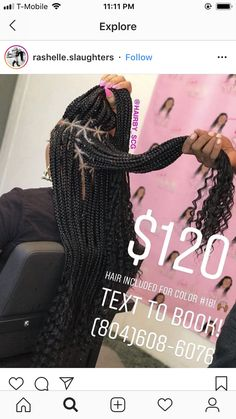 Black Girl Braids, Braids For Black Hair, Girls Braids, Big Box Braids, Box Braids Styling, Hair Inc, Box Braids Hairstyles, School Hairstyles, Goddess Braids
