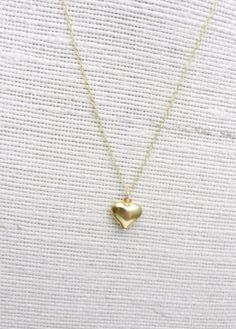 Gold heart necklace heart of gold tiny pretty by LemonSweetJewelry, $17.00