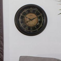 Studio Design Home 24 inch Classic Villa Wall Clock, Brown Clock Games, Gold Tips, Wood Colors, House Design, Studio Design, Antique Gold, Villa, Bronze, Antiques