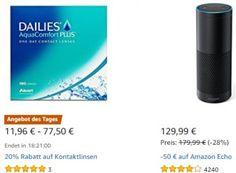 Amazon: Kontaktlinsen und Pflegemittel für einen Tag reduziert https://www.discountfan.de/artikel/technik_und_haushalt/amazon-kontaktlinsen-und-pflegemittel-fuer-einen-tag-reduziert.php Für einen Tag sind bei Amazon Kontaktlinsen und Pflegemittel zu reduzierten Preisen zu haben. Insgesamt sind amheutigen Montag im Rahmen der Aktion fünf verschiedene Artikel im Angebot. Amazon: Kontaktlinsen und Pflegemittel für einen Tag reduziert (Bild: Amazon.de) Die Kontaktlinsen und