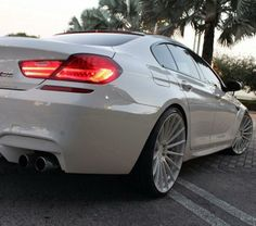 BMW M6 Gran Coupe white.....a girl can dream right?!