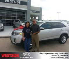 #HappyAnniversary to Hortensia Valladares on your 2014 #Kia #Sorento from Rubel Chowdhury at Westside Kia!