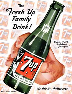 1949 soda large green bottle and logos art vintage print ad Vintage Labels, Vintage Ads, Vintage Prints, Vintage Posters, Vintage Signs, Retro Advertising, Retro Ads, Vintage Advertisements, Up Imagenes