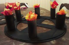 DIY Medieval Torches, Chandeliers, and Banners