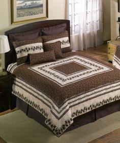 This Pine Border Quilt Set is perfect! #zulilyfinds