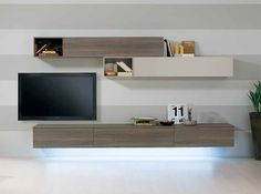 Modern Italian Wall Unit Exential T31 by Spar - Wall Units - Living Room