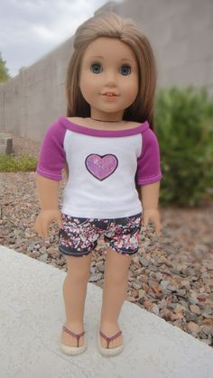 American Girl Doll Clothes  Playful Purple by BuzzinBea on Etsy, $20.00